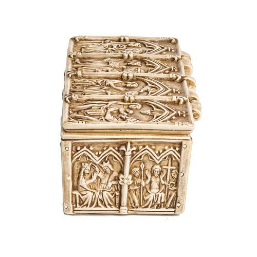Coffret, reliquaire pierre ivoirine Bethléem 4