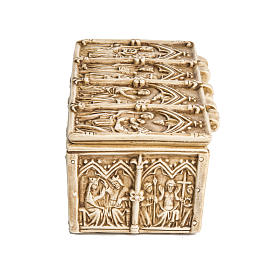 Coffret: shrine in ivory stone, Bethléem 35cm s4