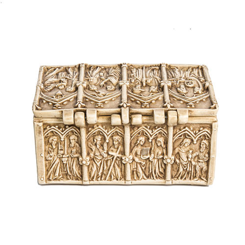 Coffret: shrine in ivory stone, Bethléem 35cm 3