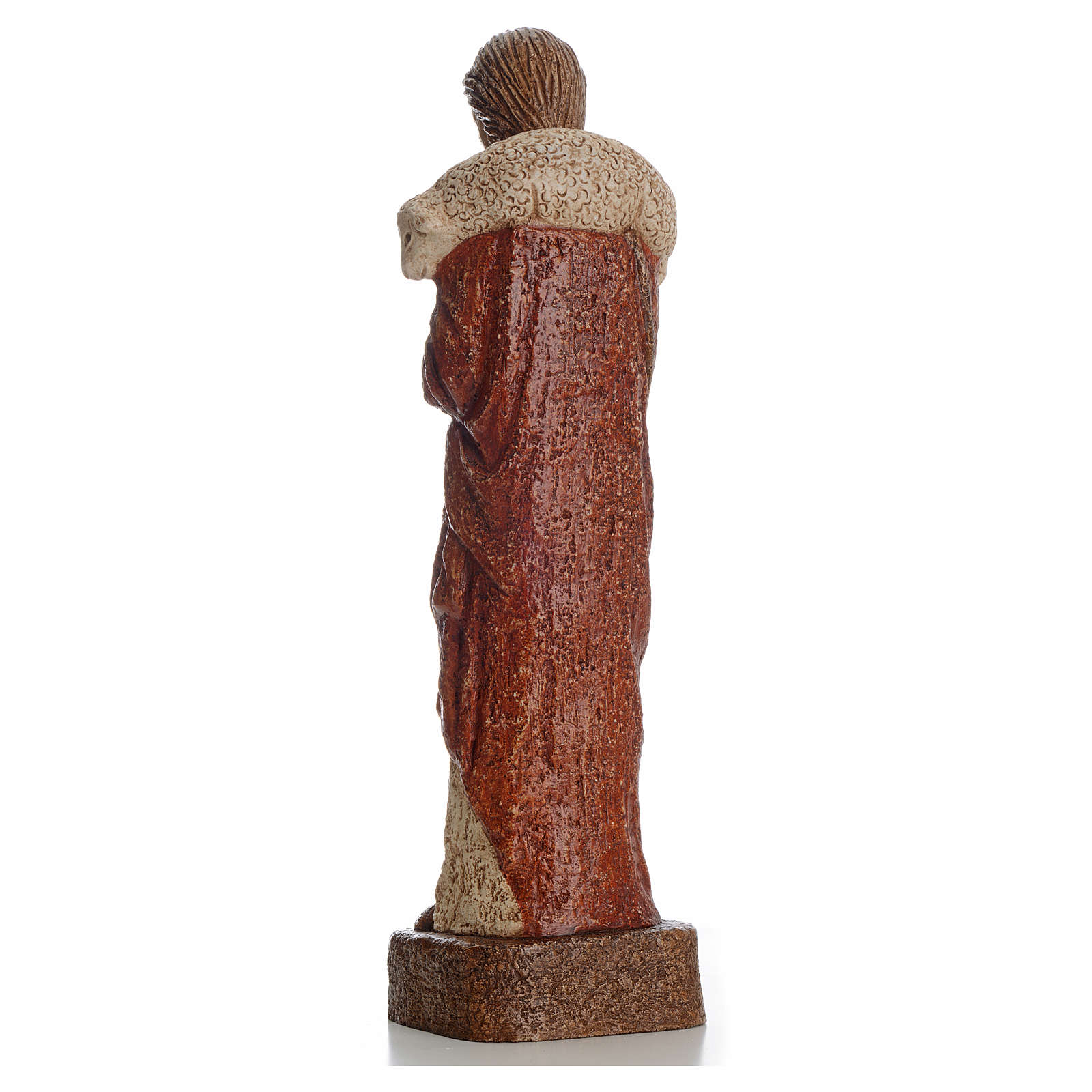 Buon Pastore 39 cm pietra Bethléem 4