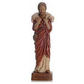 Buon Pastore 39 cm pietra Bethléem s5