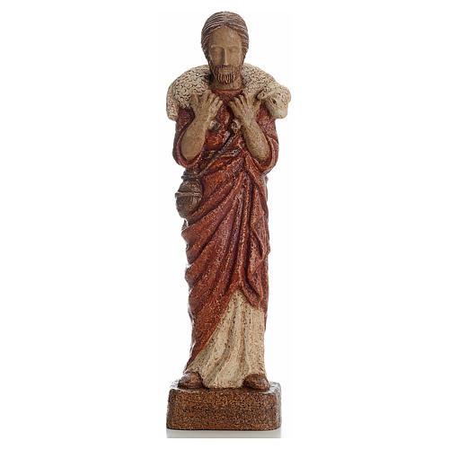 Buon Pastore 39 cm pietra Bethléem 1