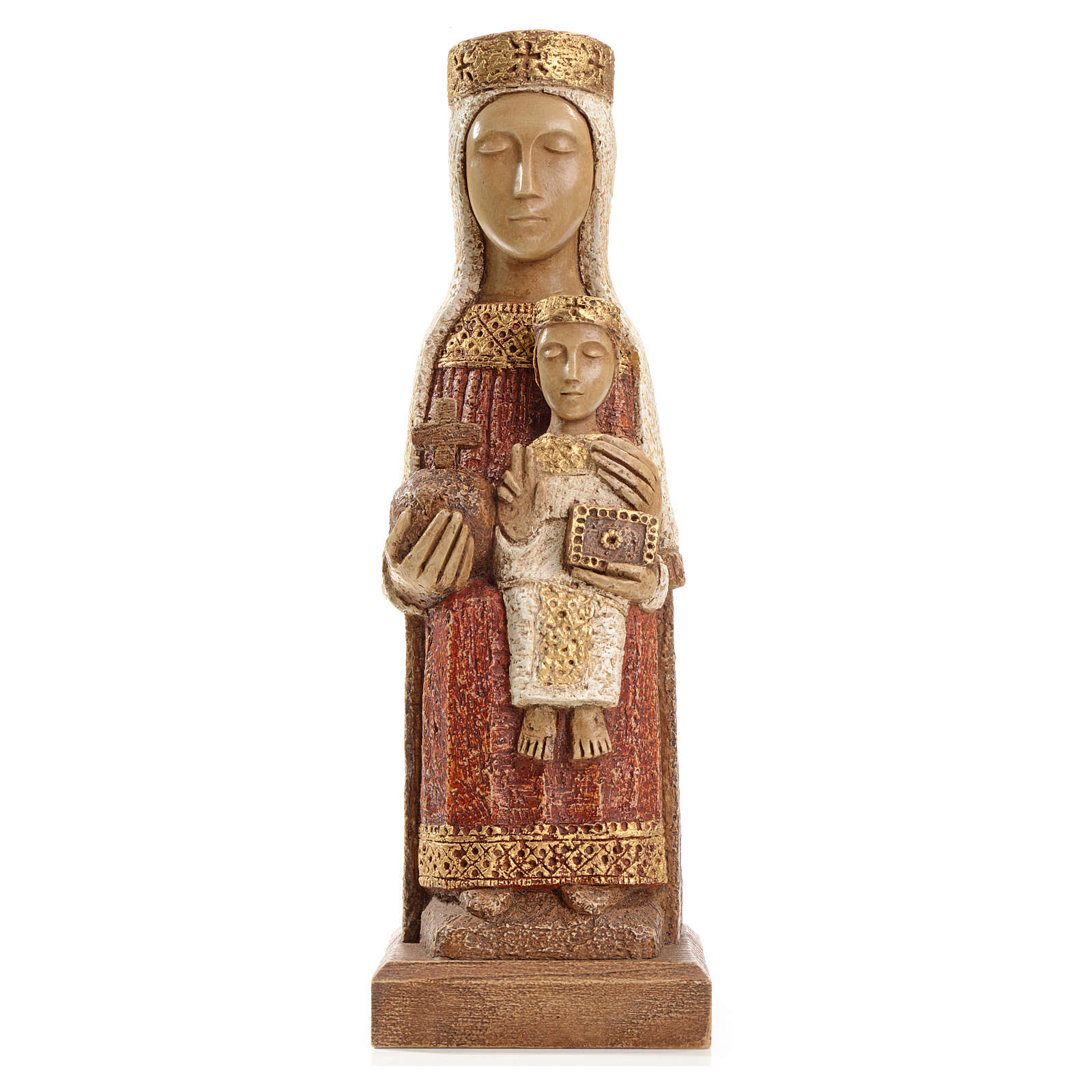 Our Lady of the Pillar stone statue 25 cm, Bethlehem Nuns 4