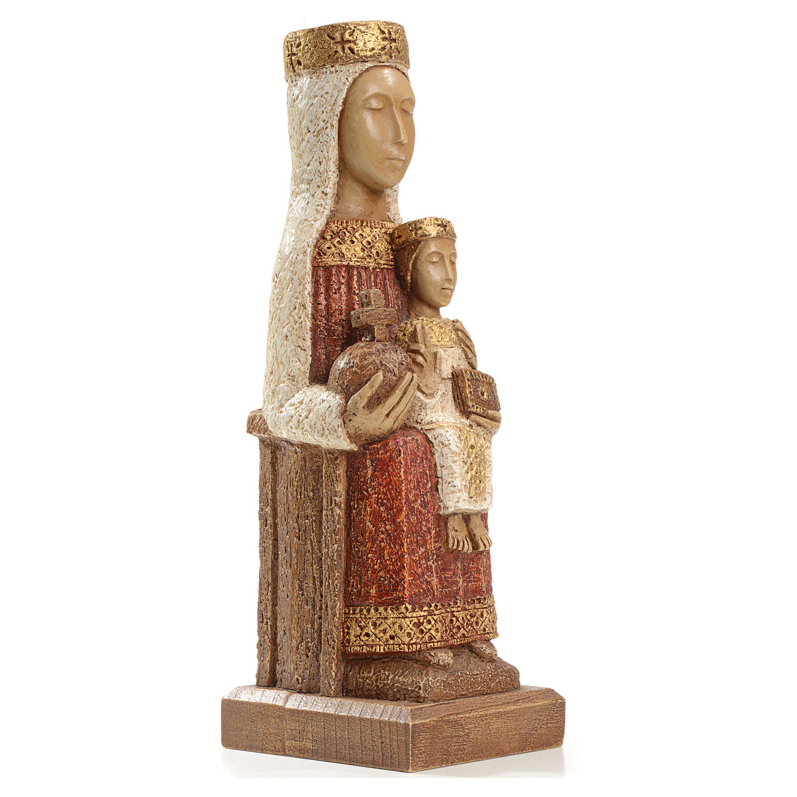Our Lady of the Pillar stone statue 25 cm, Bethlehem Nuns 4