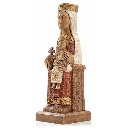 Our Lady of the Pillar stone statue 25 cm, Bethlehem Nuns 2