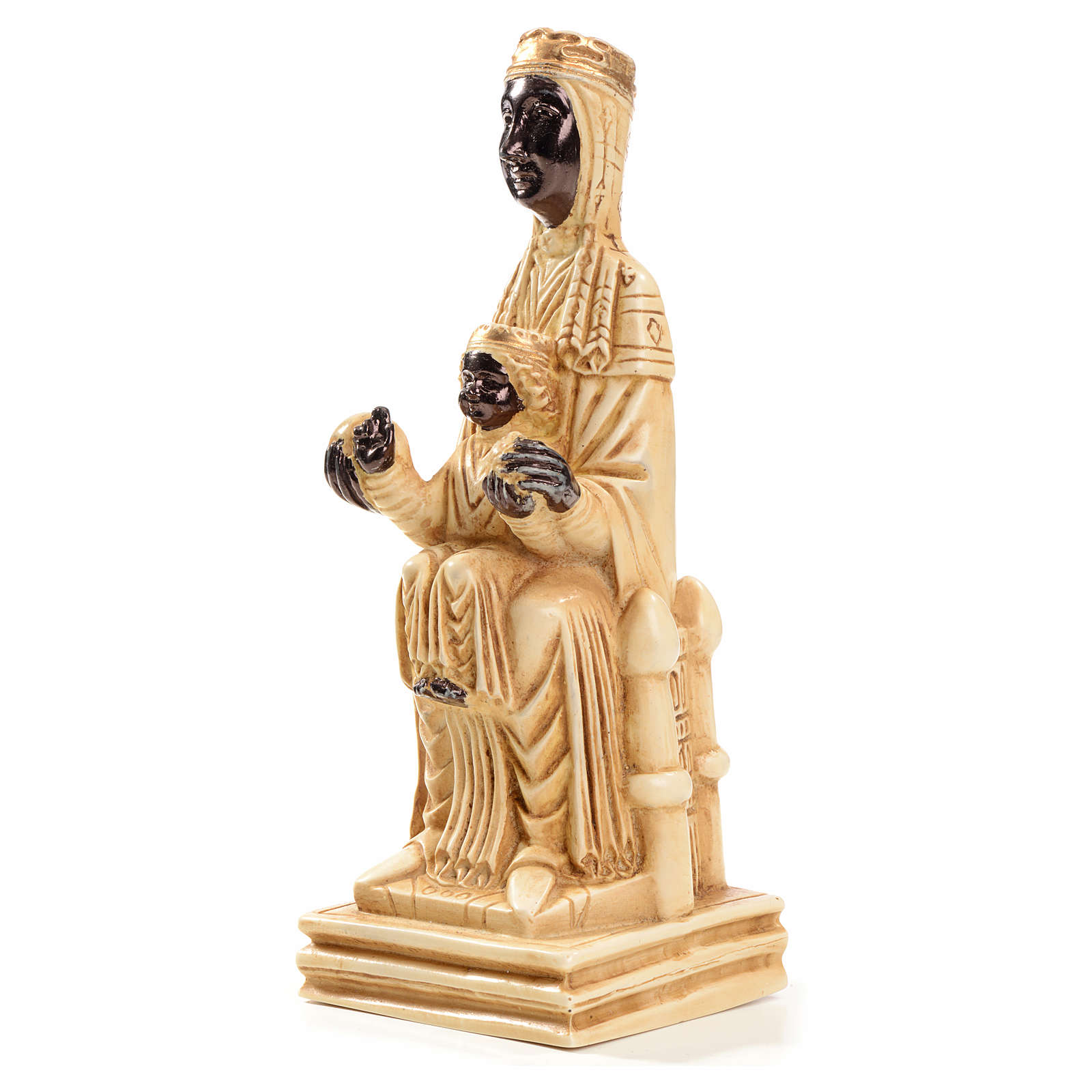 Beata Virgen de Montserrat 16 cm piedra marfil Bethléem 4