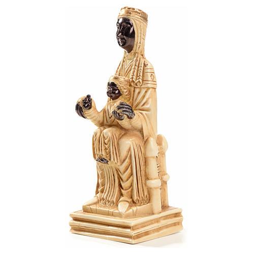 Notre Dame de Montserrat 16 cm pierre ivoirine Bethléem 2