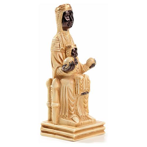 Notre Dame de Montserrat 16 cm pierre ivoirine Bethléem 4