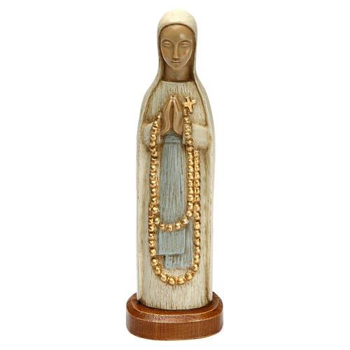 Notre Dame de Lourdes 15 cm pierre blanche Bethléem