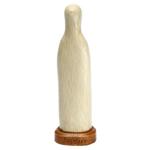 Madonna di Lourdes 15 cm pietra bianca Bethléem 4