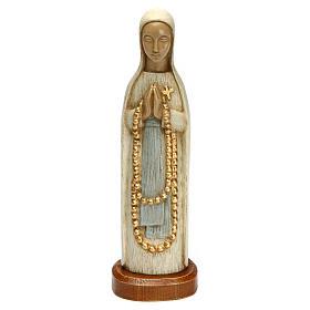 Madonna z Lourdes 15 cm kamień biały Bethleem s1