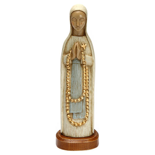 Nossa Senhora de Lourdes 15 cm pedra branca Belém
