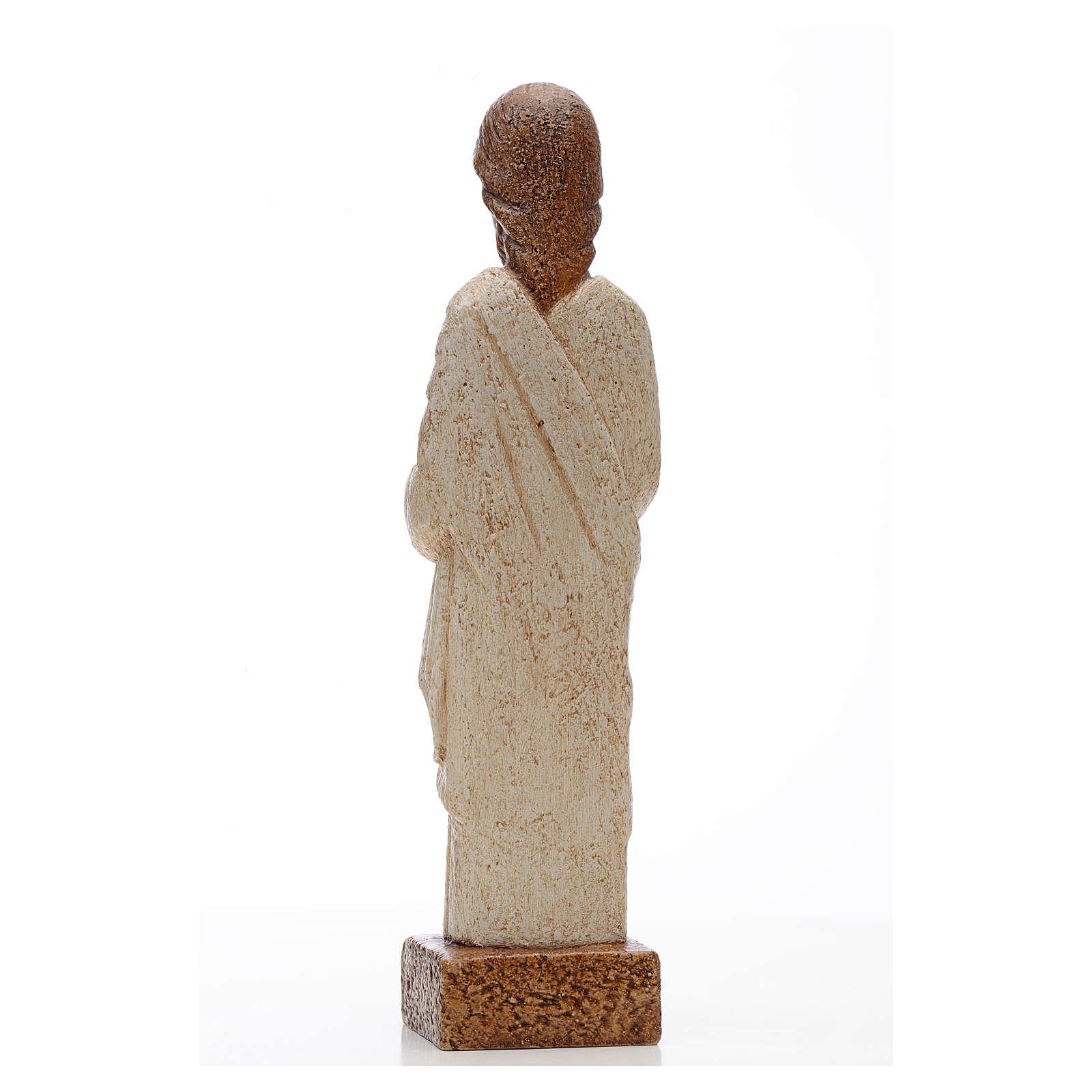 Sacro Cuore Gesù pietra Bethléem 26 cm 4