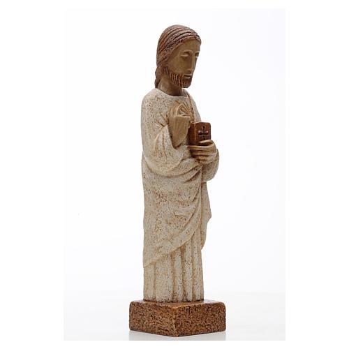Sacro Cuore Gesù pietra Bethléem 26 cm 3