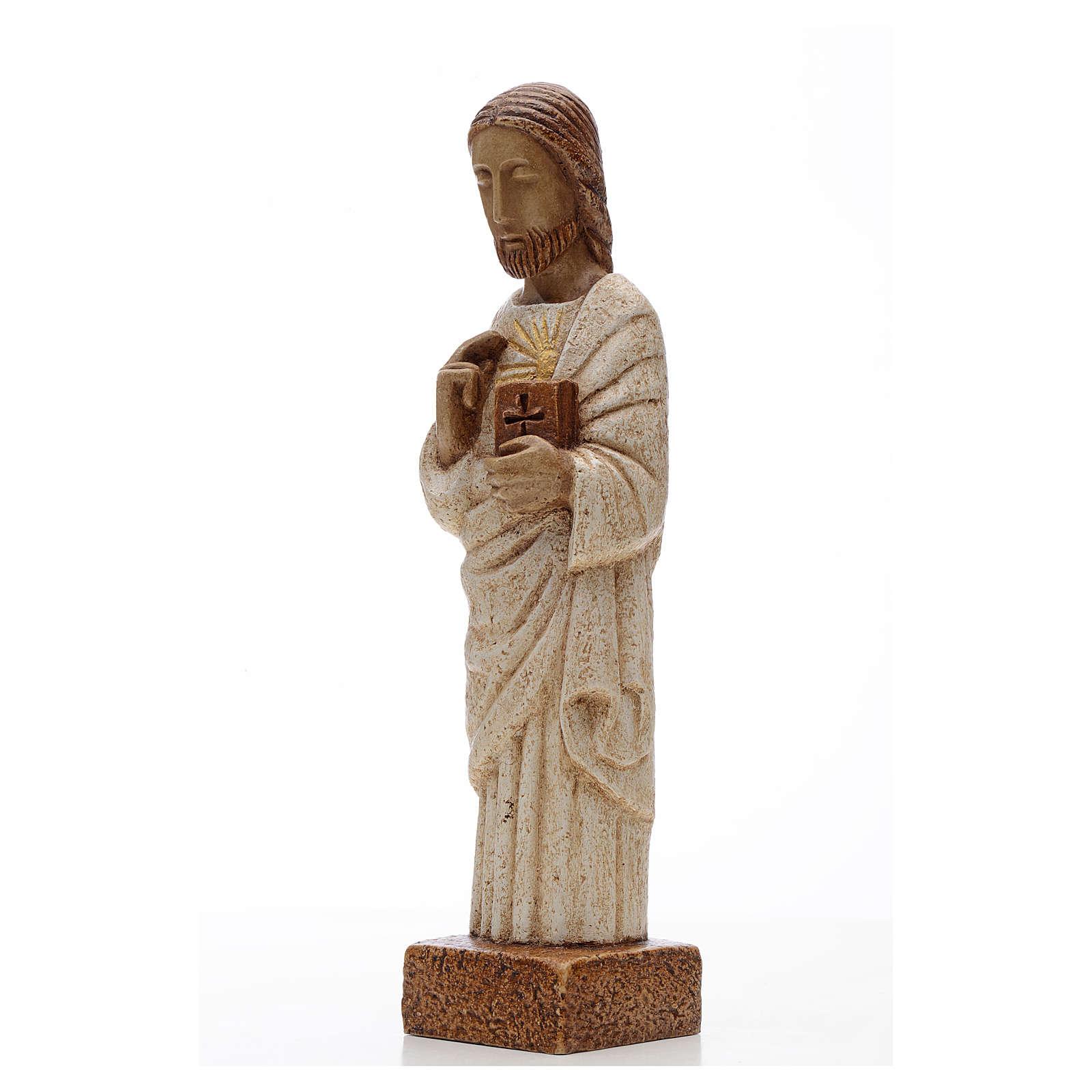 Coração Sagrado Jesus pedra Belém 26 cm 4