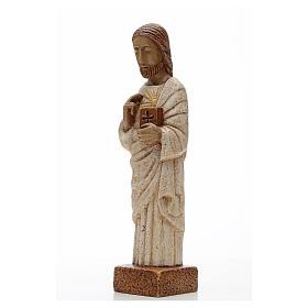 Coração Sagrado Jesus pedra Belém 26 cm s2