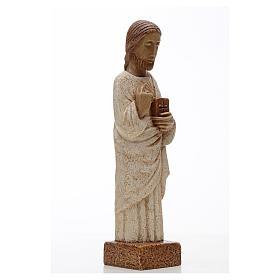 Coração Sagrado Jesus pedra Belém 26 cm s3