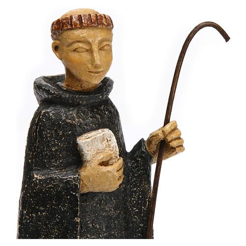 Saint Benedict in Bethléem stone, 24cm 2