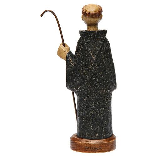 Saint Benedict in Bethléem stone, 24cm 5
