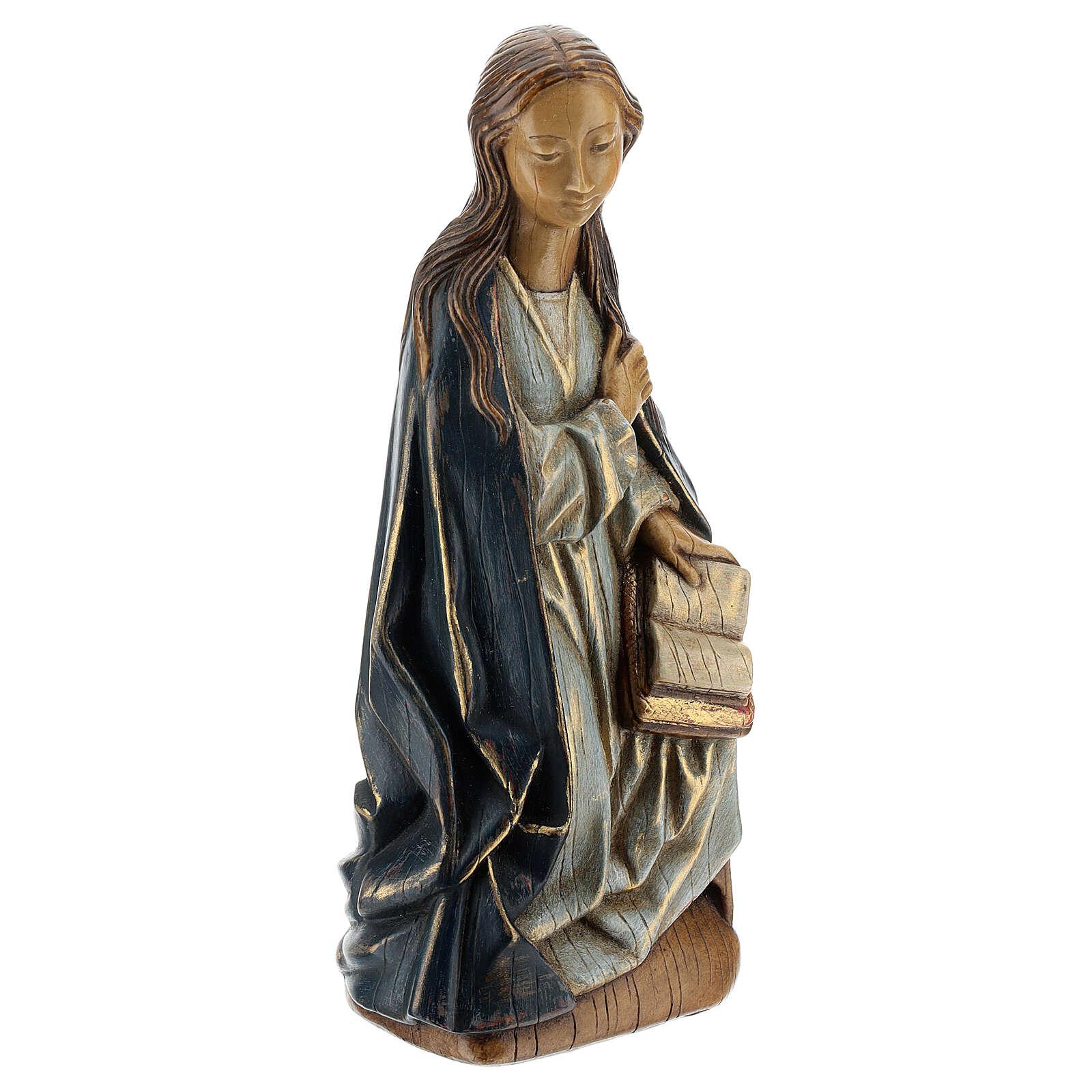 Annunciation 29cm in Pyrenees stone, Bethléem Monastery 4