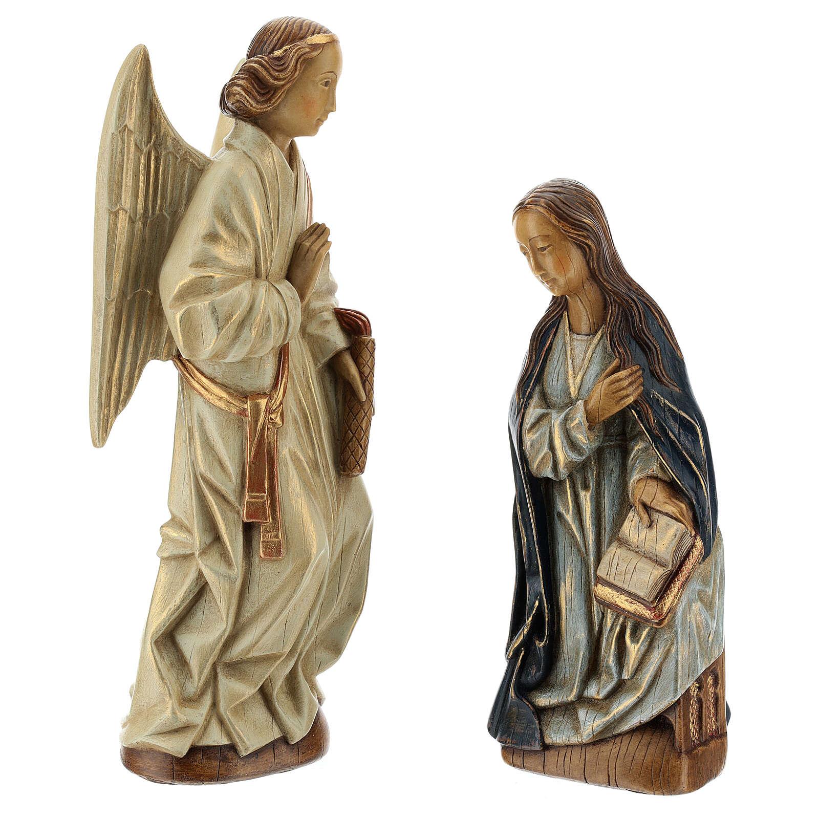 Annunciazione 29 cm pietra dei Pirenei Monastero Bethléem 4