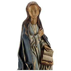 Annunciazione 29 cm pietra dei Pirenei Monastero Bethléem s2