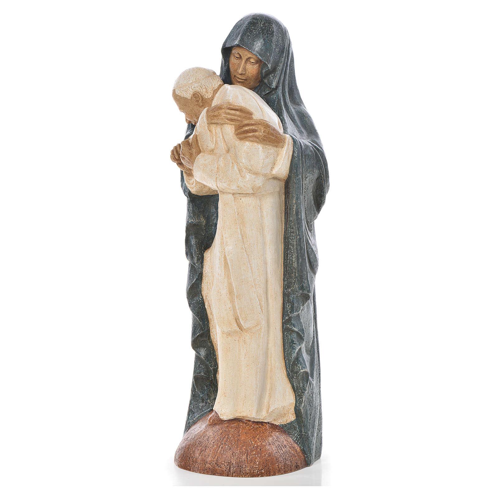 Maryja szaty niebieskie i Jan Paweł II kamień Bethleem 56 cm 4