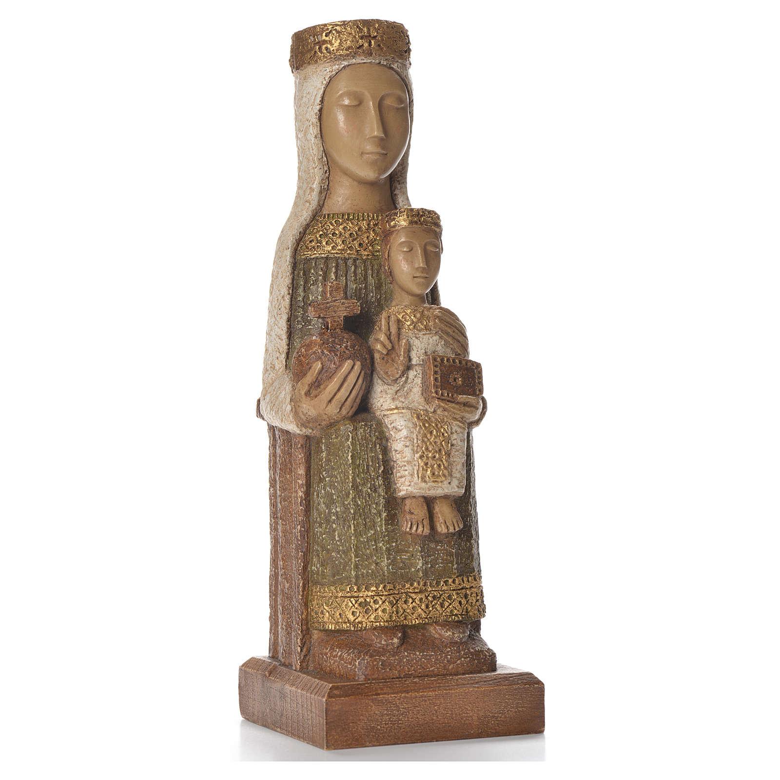 Nostra Signora del Pilar 25 cm pietra colorata verde Bethléem 4