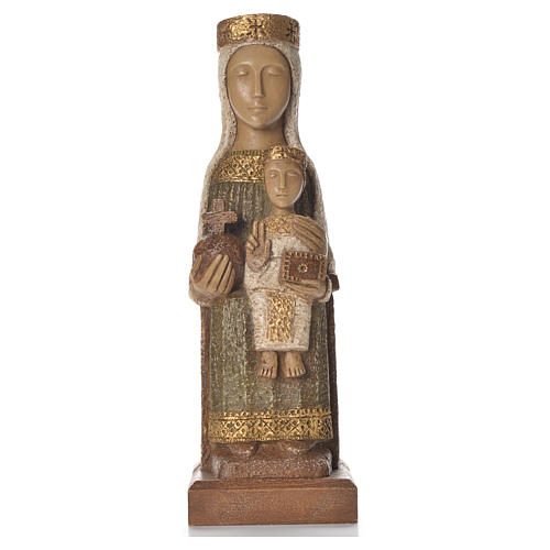 Nostra Signora del Pilar 25 cm pietra colorata verde Bethléem 1