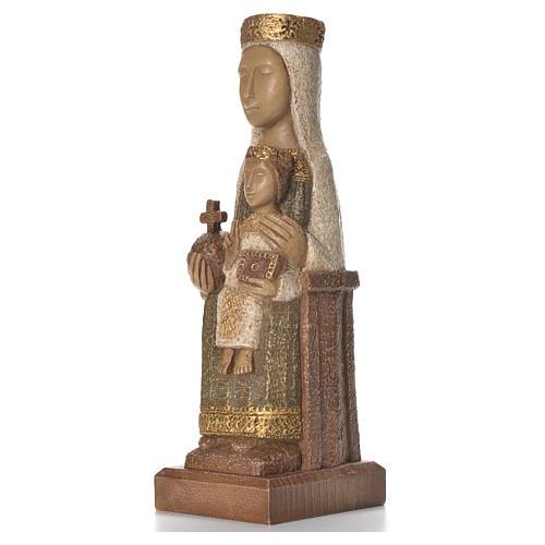 Nostra Signora del Pilar 25 cm pietra colorata verde Bethléem 2