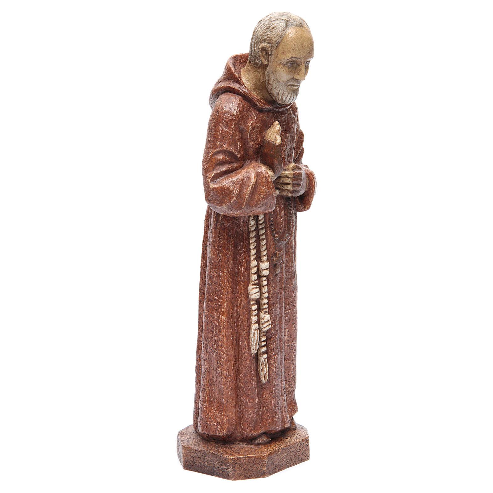 Saint Pio 37,5 cm pierre Monastère Bethléem 4