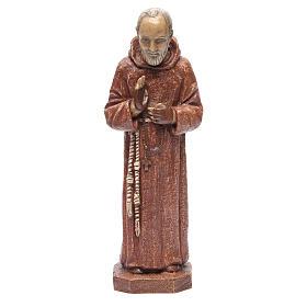 Saint Pio 37,5 cm pierre Monastère Bethléem s1