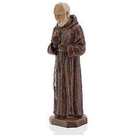 Padre Pio 37,5 cm pietra Monastero Bethléem s3
