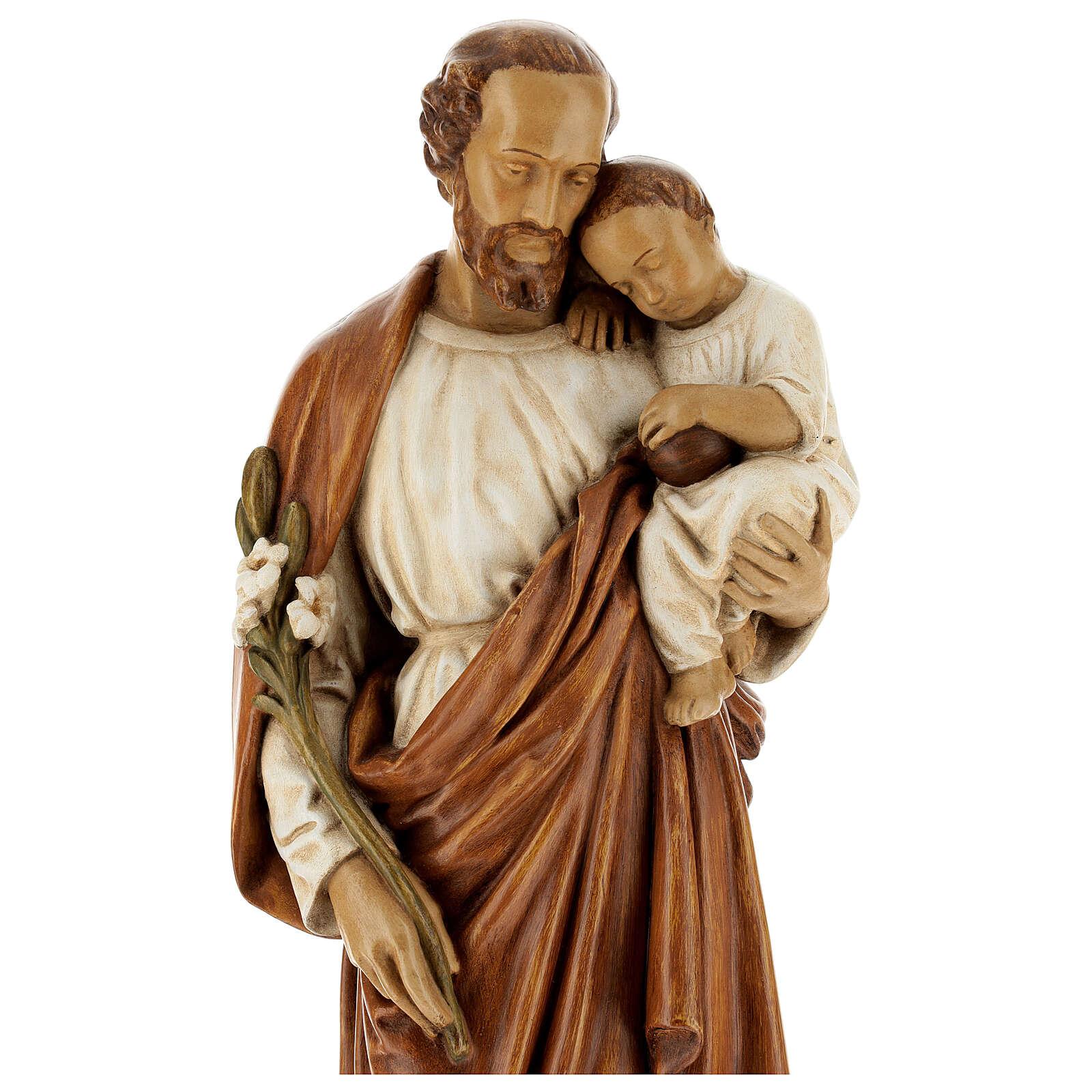 St Joseph with child 61 cm coloured Pyrenean stone 4