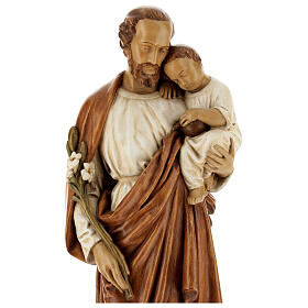 St Joseph with child 61 cm coloured Pyrenean stone s2
