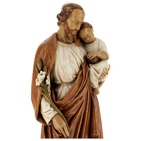 St Joseph with child 61 cm coloured Pyrenean stone s4