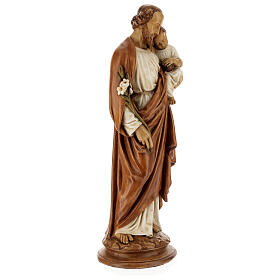St Joseph with child 61 cm coloured Pyrenean stone s5