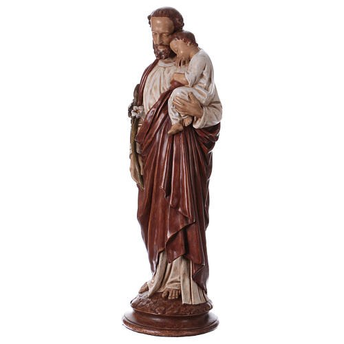 St Joseph with child 61 cm coloured Pyrenean stone 3
