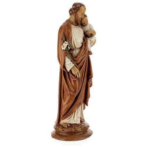 St Joseph with child 61 cm coloured Pyrenean stone 5
