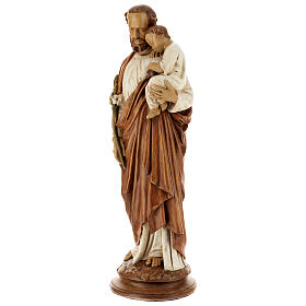 San Giuseppe con bambino 61 cm pietra dei Pirenei colorata s3