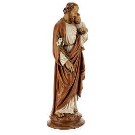 San Giuseppe con bambino 61 cm pietra dei Pirenei colorata s5