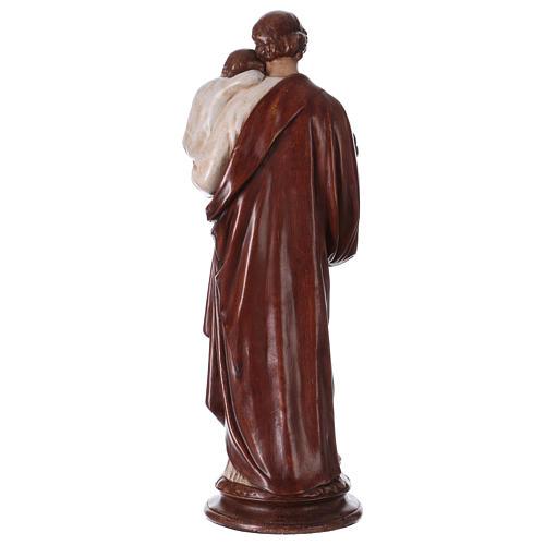 San Giuseppe con bambino 61 cm pietra dei Pirenei colorata 5