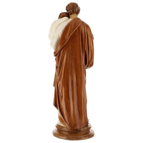 San Giuseppe con bambino 61 cm pietra dei Pirenei colorata 6