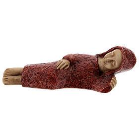 Mary figurine, small red Bethlehem Nativity s1