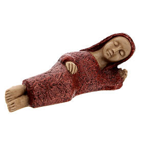 Mary figurine, small red Bethlehem Nativity s2