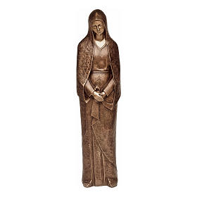 Statue of Mary Mother of Sorrows in bronze 105 cm for EXTERNAL USE s1