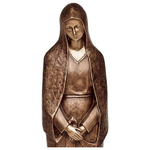 Statua Maria addolorata bronzo 105 cm per ESTERNO