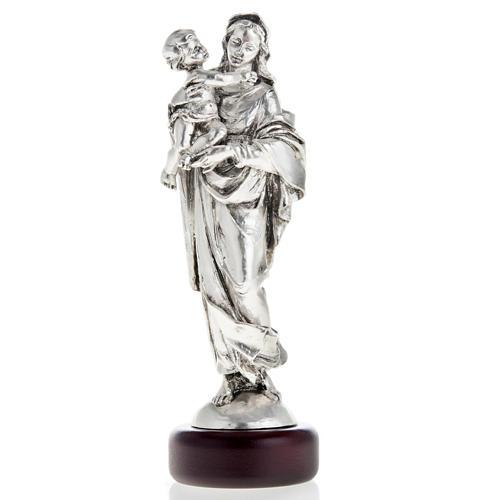 Madonna con bimbo resina color metallo 17 cm 1