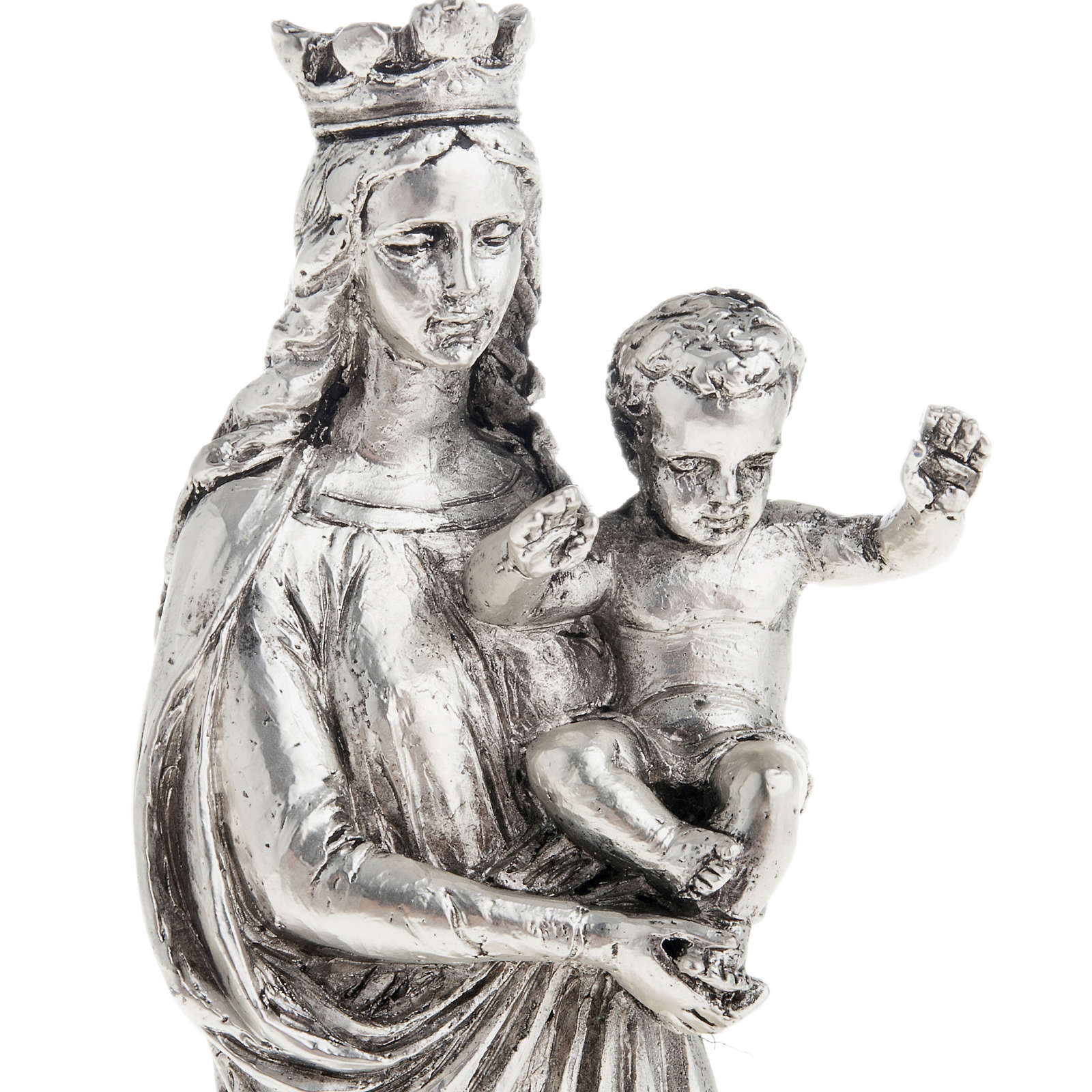 Notre Dame De la Garde resina color metallo 16 cm 4