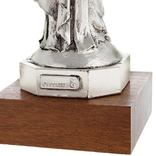 Notre Dame De la Garde resina color metallo 16 cm 6